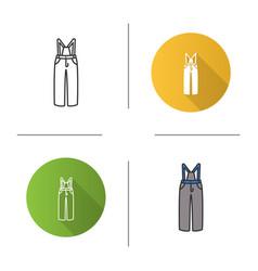 ski pants icon vector image