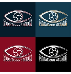 soccer vision design template vector image