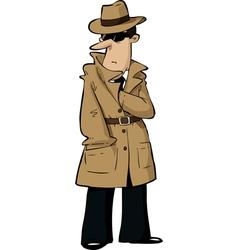 Spy hides hand vector