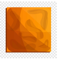 square crack biscuit icon cartoon style vector image