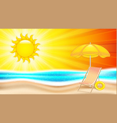 summer holiday in seashore vector image