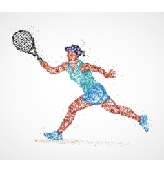 Tennis abstract player vector