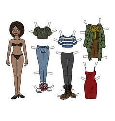 The paper doll vector