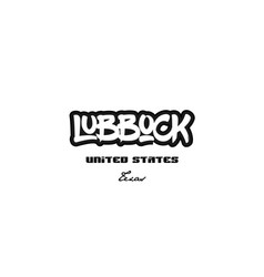 United states lubbock texas city graffitti font vector