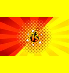 versus letters fight banner vector image