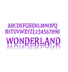 wonderland font fairy abc vector image