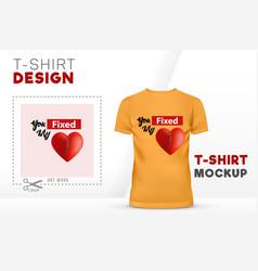you fixed my heart t-shirt design 3d heart vector image