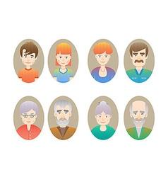 Big happy family portraits vector image