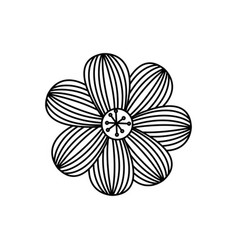 figure flower with oval petals icon vector image vector image