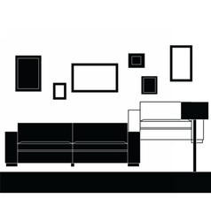 Modern sofa furniture set vector image
