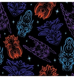 Seamless pattern with totem masks vector image
