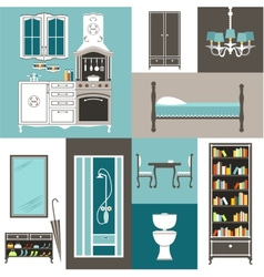 Set furniture vector image vector image