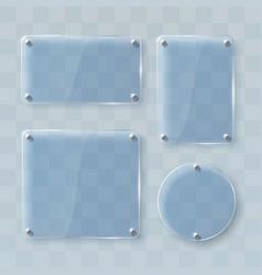 set of glass frames on transparent vector image