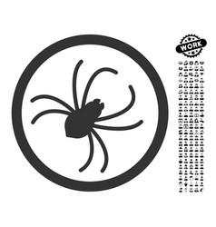 spider icon with work bonus vector image