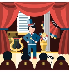 Theatre play concept vector image