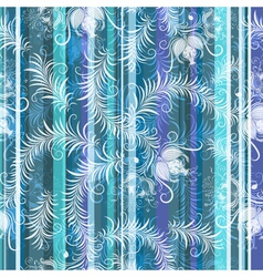 blue-grey-white floral seamless pattern vector image