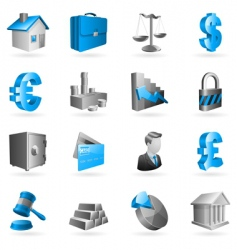business icons vector image vector image
