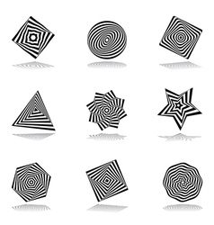 Design elements set 211 vector image vector image