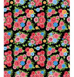 ethnic seamless texture with stylized floral vector image vector image