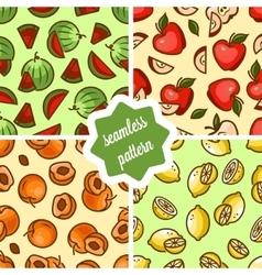 fruit patterns set vector image vector image