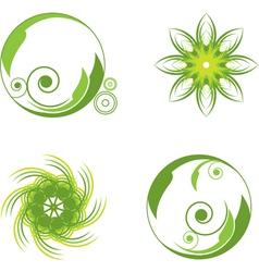 green abstract symbols vector image