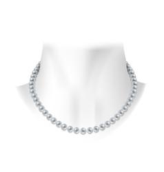 Realistic white pearl decoration vector image