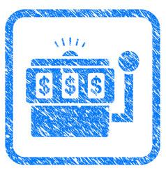 slot machine framed grunge icon vector image