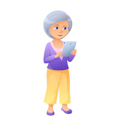 An old active lady who is vector