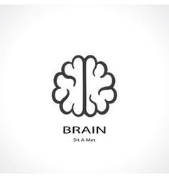 brain symbol vector image vector image