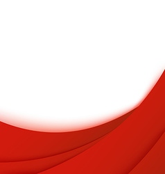 Bright business red layered background template vector image
