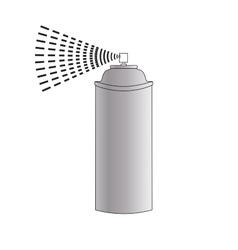 Cartoon Aerosol Spray vector image