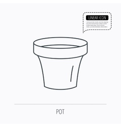 Flower pot icon Gardening ceramic container vector image