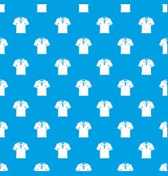 men polo shirt pattern seamless blue vector image vector image