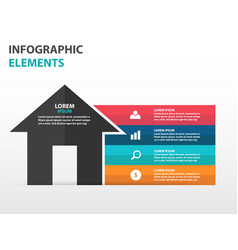 Abstract house symbol business infographics vector
