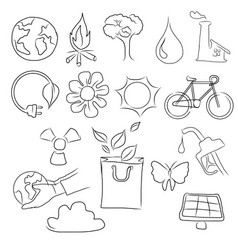 eco friendly concept hand vector image vector image