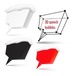 Four speech bubbles with place for text vector image