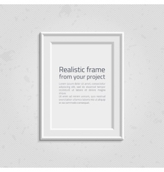 Realistic picture frame with text vector image vector image