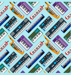 synthesizer piano musical keyboard equipment vector image vector image
