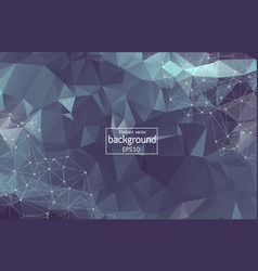 abstract dark polygonal space background with vector image