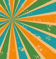 Abstract Sunburst Background in Retro Color vector image