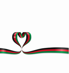 afghanistan flag heart-shaped ribbon vector image