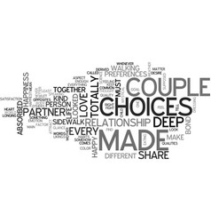 are you made for each other text word cloud vector image