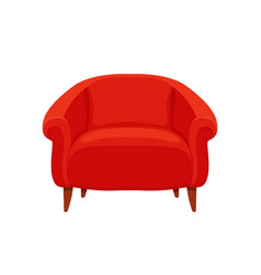 armchair colorful cartoon vector image