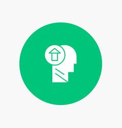 arrow head human knowledge mind up vector image
