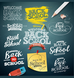 back to school with typography vector image