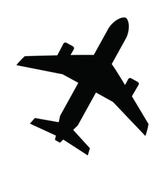 black Airplane vector image