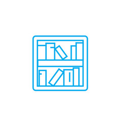 Bookshelves linear icon concept bookshelves line vector