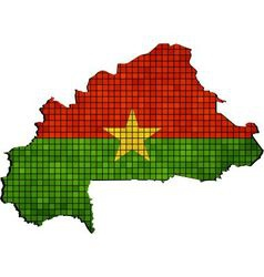 Burkina Faso map with flag inside vector image