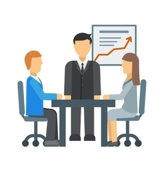 Business training vector image
