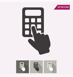 calculator - icon vector image
